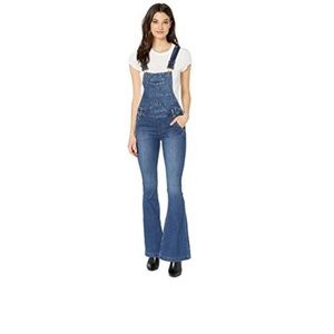 Free People Carly Flare Garden Party Overall SZ 28
